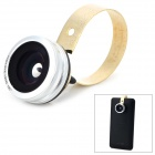 M-191 Universal 0.67X Wide Angle Fisheye Lens + Macro Lens Set for Cellphone - Silver