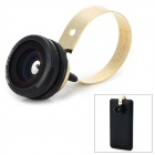 M-192 Universal 0.67X Wide Angle Fisheye Lens + Macro Lens Set for Cellphone - Black