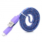 Micro USB-lading / Data kabel for Sony Xperia Z / L36H / Xperia SP / M35H + mer - lilla (100cm)