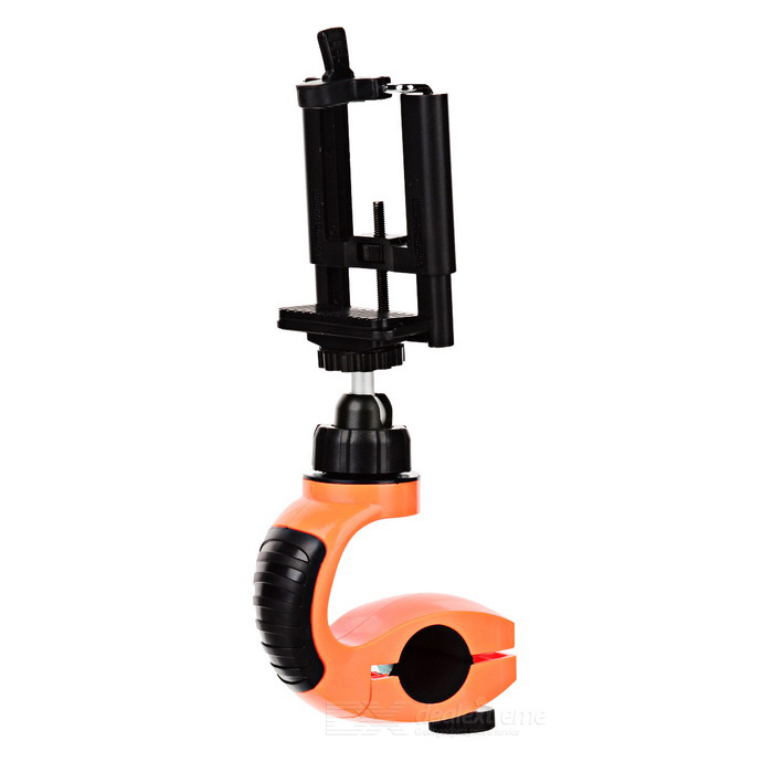 Outdoor Bicycle Selfie Mount Holder for Camera / IPHONE - Orange Red + Black