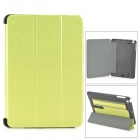 Protective PC + PU Case w/ Stand for Retina IPAD MINI  - Green + Black