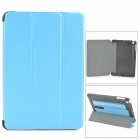 Protective PC + PU Case w/ Stand for Retina IPAD MINI - Blue + Black