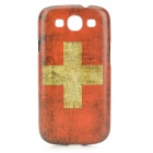 Retro Flag of Switzerland Style Protective PC Back Case for Samsung Galaxy S3 i9300 - Red + White