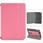 Protective PC + PU Case w/ Stand for Retina IPAD MINI - Pink + Black