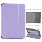 Protective PC + PU Case w/ Stand for Retina IPAD MINI - Purple + Black