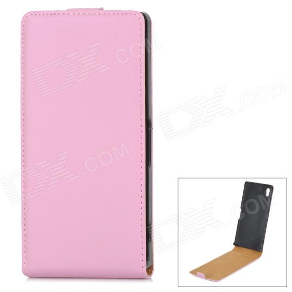 Protective Up-Down Flip Open PU Leather Case for Sony Xperia Z1 / L39H - Pink