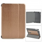 Protective PC + PU Case w/ Stand for Retina IPAD MINI - Earthy Golden + Black
