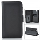 Protective PU Leather Case w/ Card Holder Slots for Sony L36h / Xperia Z / C6603 - Black