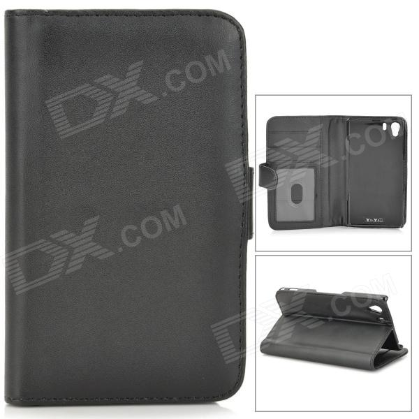Protective Lambskin Case w/ Card Holder Slots for Sony Xperia Z1 / Xperia i1 L39h - Black 2017 new eu us plug in 2 outdoor transmitter 2 indoor receiver touch wireless door bell with 28 chimes waterproof doorbell