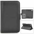 Protective Lambskin Case w/ Card Holder Slots for Sony Xperia Z1 / Xperia i1 L39h - Black