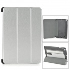 Protective PC + PU Case w/ Stand for Retina IPAD MINI - Silver + Black