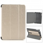 Protective PC + PU Case w/ Stand for Retina IPAD MINI - Golden + Black