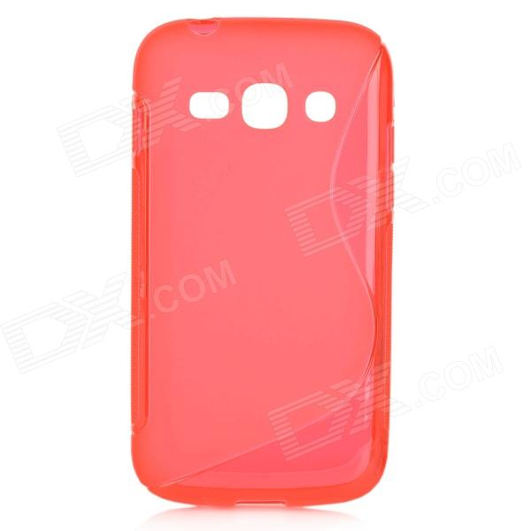 S Style Anti-Slip Protective TPU Back Case for Samsung Galaxy Ace 3 S7272 / S7275 / S7270 - Red