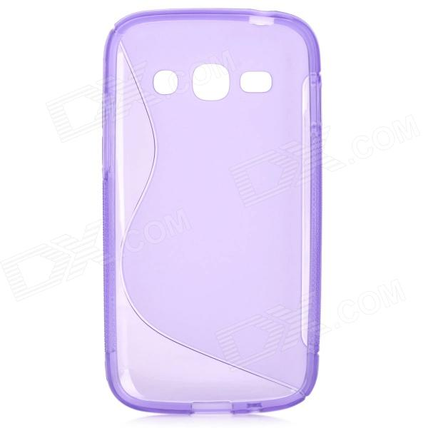 S Style Anti-Slip Protective TPU Back Case for Samsung Galaxy Ace 3 S7272 / S7275 / S7270 - Purple
