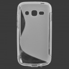 """S"" Style Anti-Slip Protective TPU Case for Samsung Galaxy Ace 3 S7272 / S7275 - Translucent White"