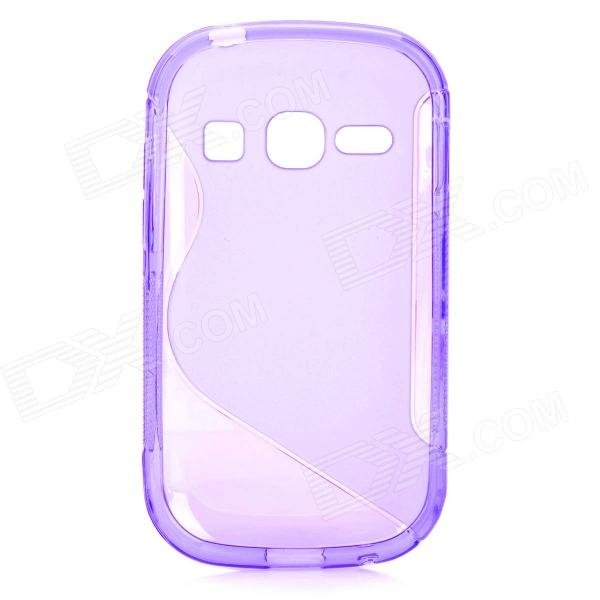 цена на S Style Anti-Slip Protective TPU Back Case for Samsung Galaxy Fame S6812 / S6810 - Purple