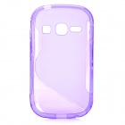 """S"" Style Anti-Slip Protective TPU Back Case for Samsung Galaxy Fame S6812 / S6810 - Purple"