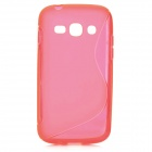 """S"" Style Anti-Slip Protective TPU Case for Samsung Galaxy Ace 3 S7272 / S7275 / S7270 - Deep Pink"