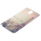 Eiffel Towel Pattern Replacement PC Back Cover for Samsung Galaxy Note 3 / N9000 - Beige + Golden