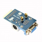 Waveshare VGA PS2 Board Accessory Transform Test Module for VGA + PS2 + Control Connector - Blue
