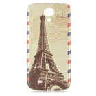 Unique Eiffel Towel Pattern Replacement PC Back Cover for Samsung Galaxy S4 / i9500 - Beige + Black