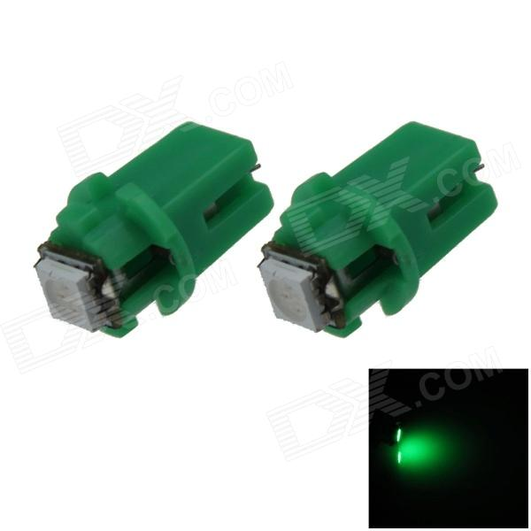 B8.3 0.2W 20lm 1-5050 SMD LED Green Light Car Dashboard Lamp / Instrument  Light - (DC 12V / 2 PCS)