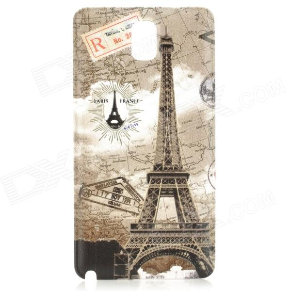 Eiffel Tower Style Replacement PC Battery Back Cover Case for Samsung Galaxy Note 3 N9000 - Grey matte protective pe back case for htc one x s720e red