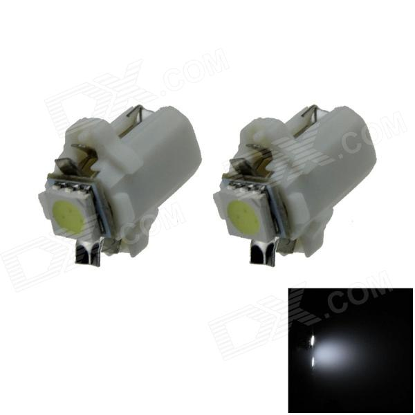 B8.3 0.2W 20lm 1-5050 SMD LED White Light Car Dashboard Lamp / Instrument  Light (DC 12V / 2 PCS)