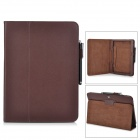 Protective Flip-open PU Leather Case w/ Stylus for Samsung Galaxy Tab 3 P5200 / P5210 - Brown