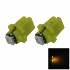 B8.3 0.2W 20lm 1-5050 SMD LED Yellow Light Car Dashboard Lamp / Instrument  Light (DC 12V / 2 PCS)