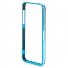 Stylish Protective Aluminum Alloy Bumper Case for IPHONE 5 / 5S - Light Blue + Silver
