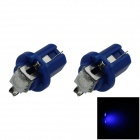 B8.5 0.2W 20lm 1-5050 SMD LED Blue Light Car Dashboard Lamp / Instrument Light (DC 12V / 2 PCS)