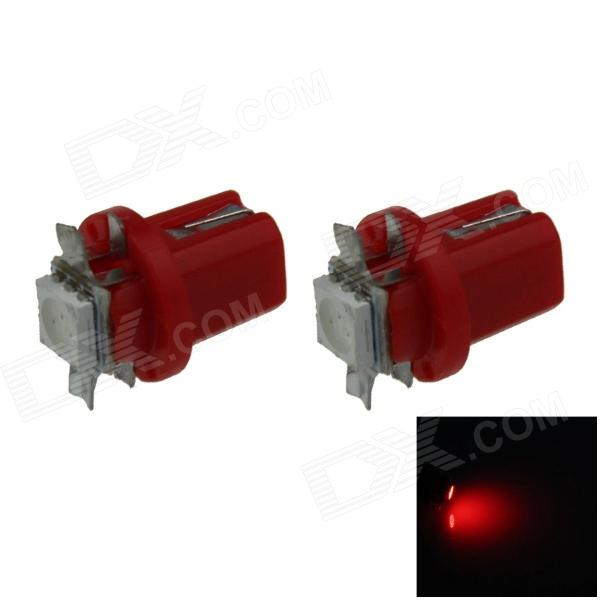 B8.5 0.2W 20lm 1-5050 SMD LED Red Light Car Painel Lamp / Instrumento Light (DC 12V / 2 PCS)