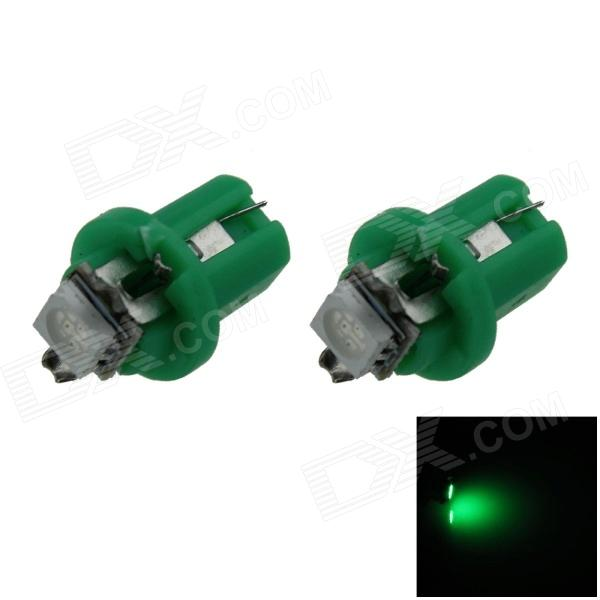 B8.5 0.2W 20lm 1-5050 SMD LED Green Light Car Dashboard Lamp / Instrument Light (DC 12V / 2 PCS)