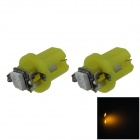 B8.5 0.2W 20lm 1-5050 SMD LED Yellow Light Car Dashboard Lamp / Instrument Light (DC 12V / 2 PCS)