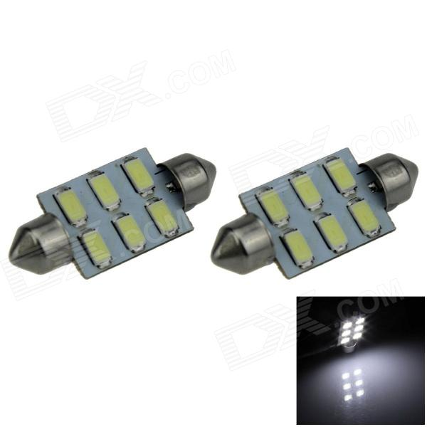 цены на Festoon 39mm 3W 300lm 6-SMD 5630 LED White Car Reading Light / Roof Lamp / Dome Bulb (12V / 2 PCS) в интернет-магазинах