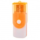 4-in-1 Rotate-to-open SD / TF / MS / M2 Car Reader - White + Orange (32G Max.)