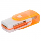 Lecteur de voiture 4-en-1 Rotate to open SD / TF / MS / M2 - Blanc + Orange (32 Go max.)