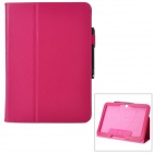 Protective PU Fall w / Stand + Stylus Pen für Samsung Galaxy Tab 10.1 P5200 3 / P5210 - Deep Pink