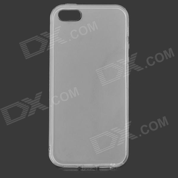 Protective Silicone Back Case for iPhone 5 / 5S - Transparent protective silicone case for nds lite translucent white