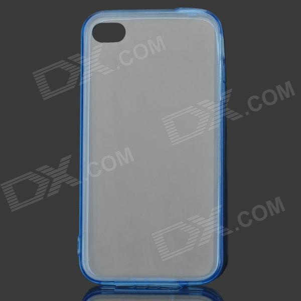 Protective TPU + ABS Back Case for IPHONE 4 / 4S - Translucent Blue