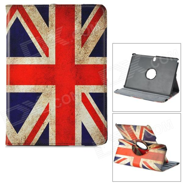 UK Flag Pattern Rotary PU Leather Case w/ Stand for Samsung 10.1 2014 Edition P600 - Multicolored uk flag pattern 360 rotary protective pu case w stand for samsung galaxy tab s 10 5 t800
