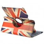 UK Flag Pattern Rotary PU Leather Case w/ Stand for Samsung 10.1 2014 Edition P600 - Multicolored