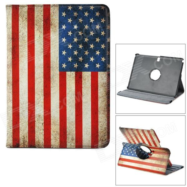 360 Degree Rotatable USA Flag PU Leather Case for Samsung Galaxy Note 10.1 P600 -Multiclored universal 360 degree rotatable car air vent holder for cell phone black