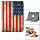 360 Degree Rotatable USA Flag PU Leather Case for Samsung Galaxy Note 10.1 P600 -Multiclored