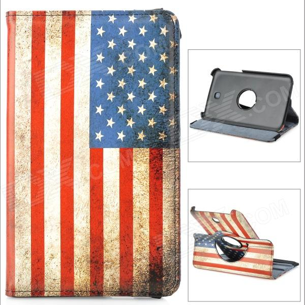 US National Flag Pattern Protective 360 Degree Rotation PU Leather Case for Samsung T210 / T211 levett caesar prostate massager for 360 degree rotation g spot