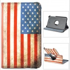 US National Flag Pattern Protective 360 Degree Rotation PU Leather Case for Samsung T210 / T211