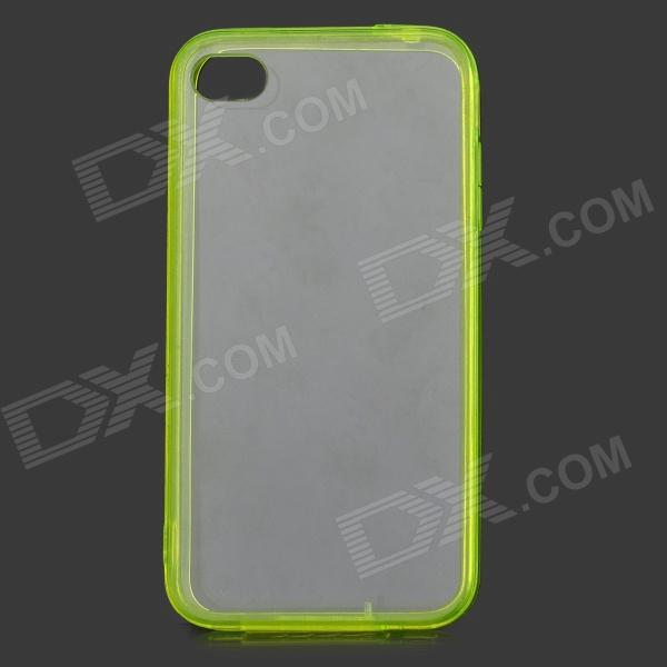 S-What Protective TPU + ABS Back Case for IPHONE 4 / 4S - Transparent Yellow бусики колечки кольцо барсия им бирюзы арт ск 6060