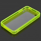 S-What Protective TPU + ABS Back Case for IPHONE 4 / 4S - Transparent Yellow