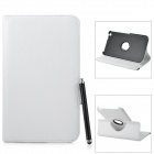 Protective PU Leather Case w/ Stand + Stylus Pen for Samsung Galaxy Tab 3 8.0 T310 / T311 - White